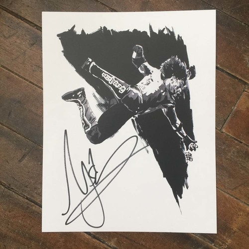 Photo of AJ Styles SIGNED 11 x 14 Rob Schamberger Print