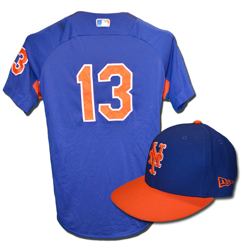 Asdrubal Cabrera #13 - Team Issued Blue Batting Practice Top and Hat Combination - 2017 Season
