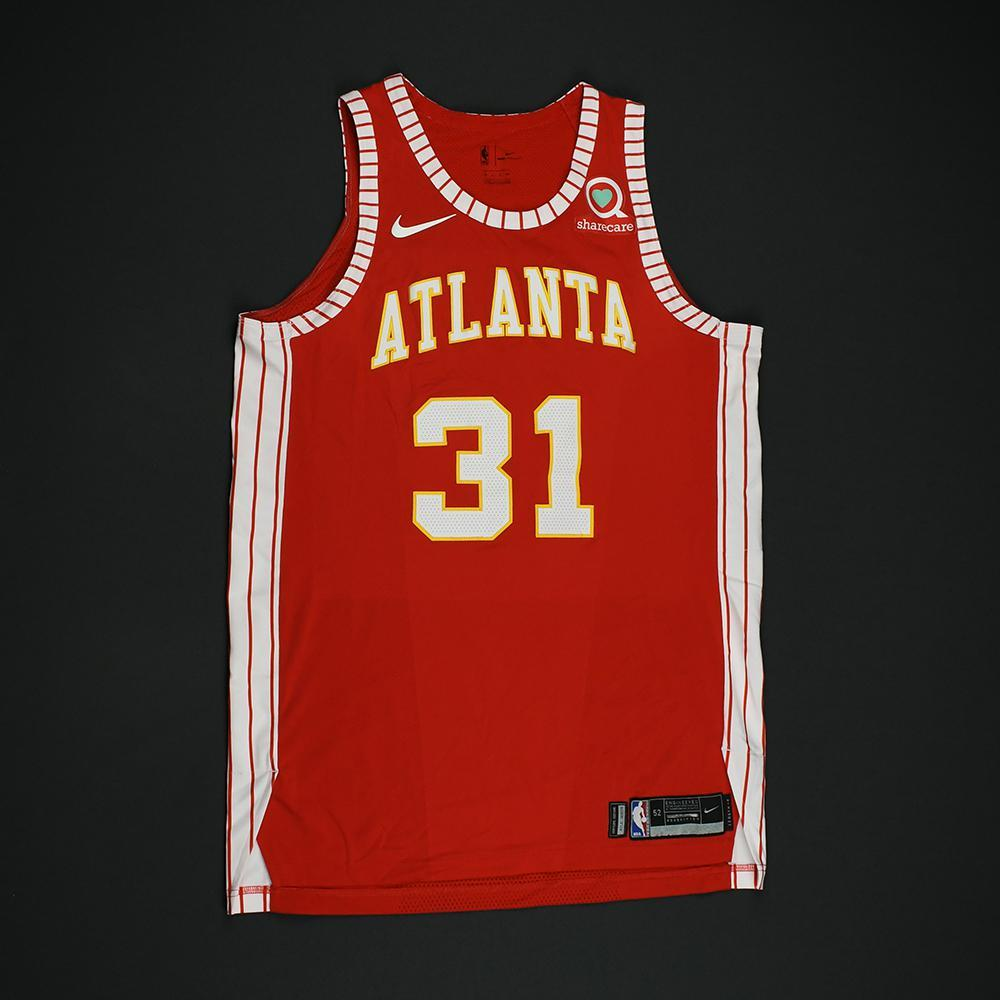 Mike Muscala - Atlanta Hawks - Game-Worn Classic Edition 1970-72 Road Style Jersey - 2017-18 Season