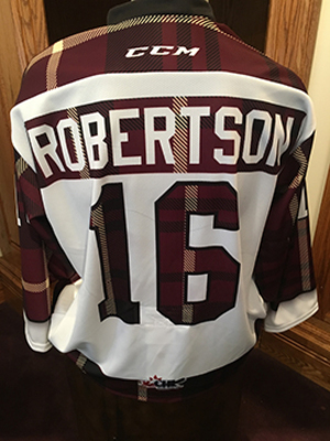 Nick Robertson (#16) - Game-Worn #PetesPlaidNight Jersey