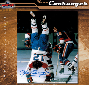 YVAN COURNOYER Signed Montreal Canadiens 8 X 10 Photo - 70429