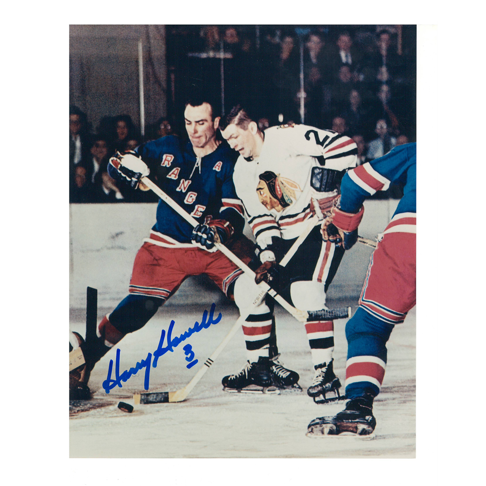 HARRY HOWELL Signed New York Rangers 8 X 10 Photo - 70031