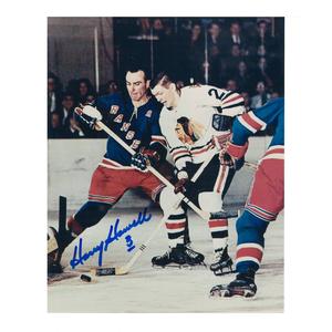 HARRY HOWELL Signed New York Rangers 8 X 10 Photo - 70031