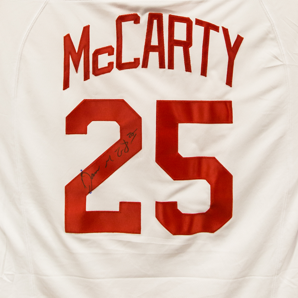 Autographed Darren McCarty Jersey from Nicklas Lidstrom Jersey Retirement Night - Detroit Red Wings