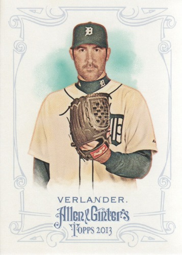 Photo of 2013 Topps Allen and Ginter #205 Justin Verlander -- Astros post-season