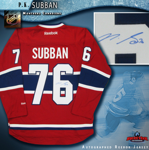P.K. SUBBAN Signed Montreal Canadiens Red Reebok Jersey