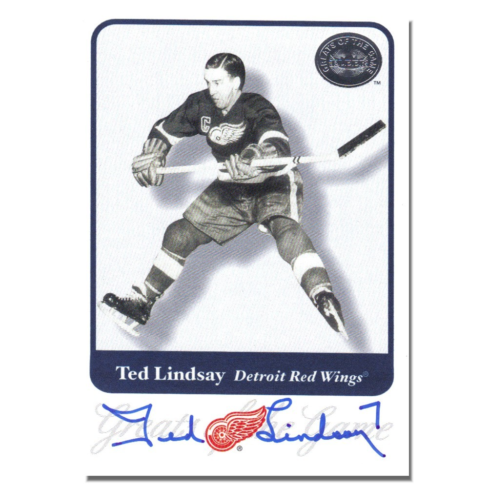 Ted Lindsay Autographed Detroit Red Wings 2004 Parkhurst Card