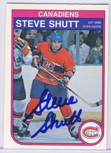 Steve Shutt Montreal Canadiens Autgraphed Hockey Card