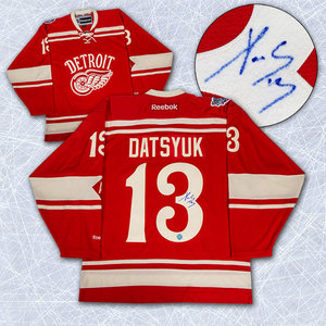 Pavel Datsyuk Detroit Red Wings Autographed 2014 Winter Classic Jersey