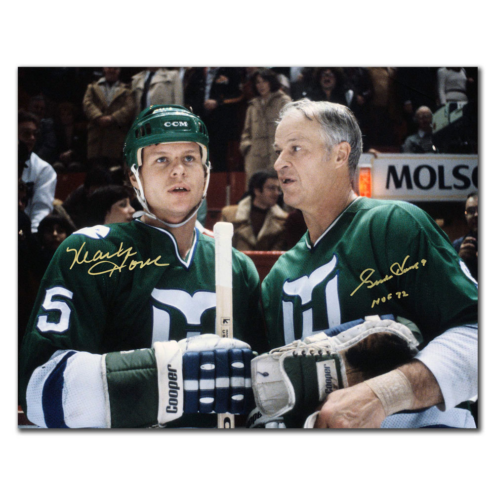 Gordie Howe & Mark Howe Hartford Whalers Dual Autographed 11x14