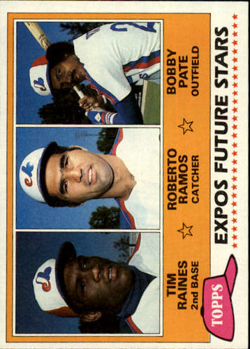 Photo of 1981 Topps #479 Tim Raines -- Rookie card; newest HOFer
