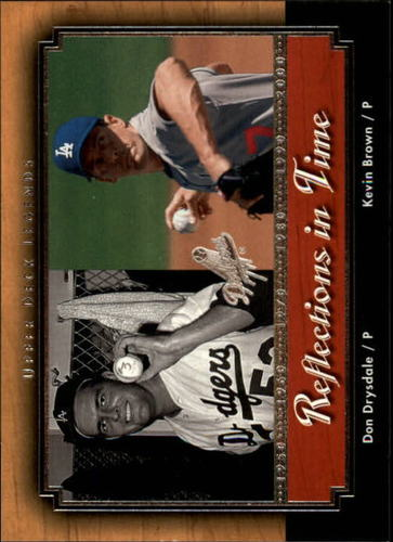 Photo of 2001 Upper Deck Legends Reflections in Time #R8 K.Brown/D.Drysdale