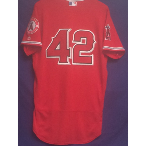 "Photo of Cameron Maybin Game-Used ""42"" Jersey - 4/15/17"