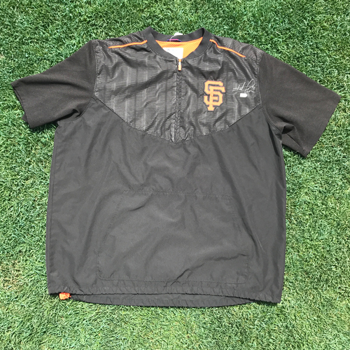 Photo of San Francisco Giants - Player Collected and Autographed Field Jacket - Hunter Pence (size 2XL)