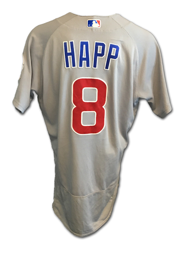 Ian Happ Game-Used Jersey -- Cubs Clinch 2017 NL Central Division -- Cubs at Cardinals -- 9/27/17