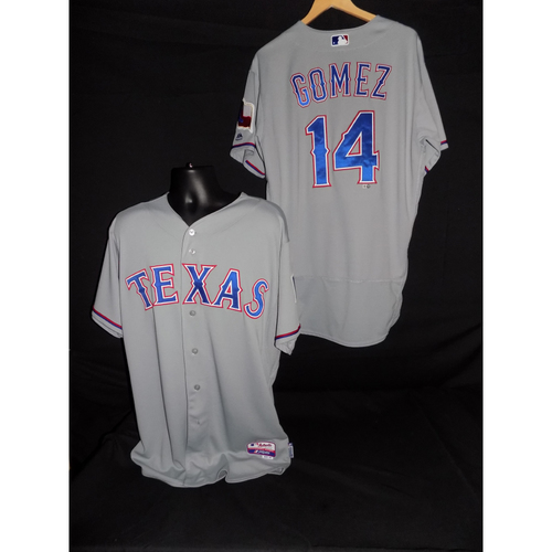Photo of Carlos Gomez Game-Used Grey Jersey Worn 9/6/2017 vs. ATL; 2B (20); 1 RBI - Size 48