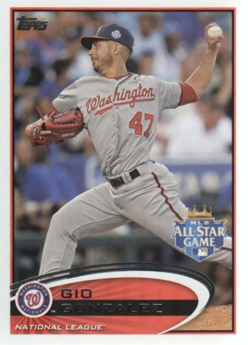 Photo of 2012 Topps Update #US326 Gio Gonzalez