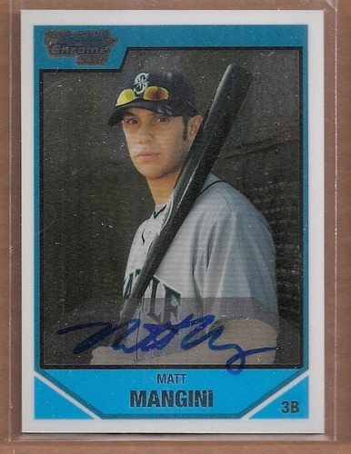 Photo of 2007 Bowman Chrome Draft Draft Picks #BDPP129 Matt Mangini AU