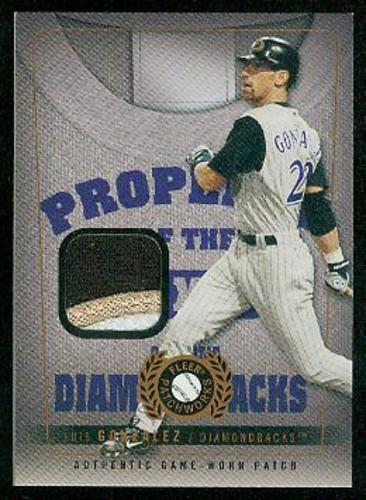 Photo of 2005 Fleer Patchworks Property of Patch #LG Luis Gonzalez