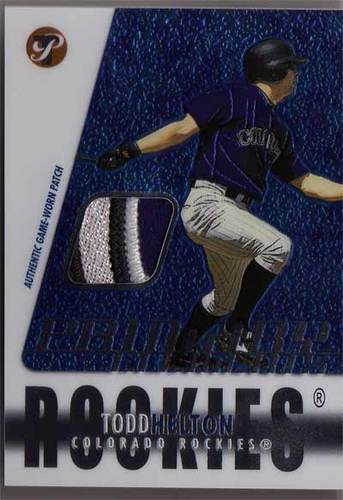 Photo of 2003 Topps Pristine Primary Elements Patch Relics #TH Todd Helton