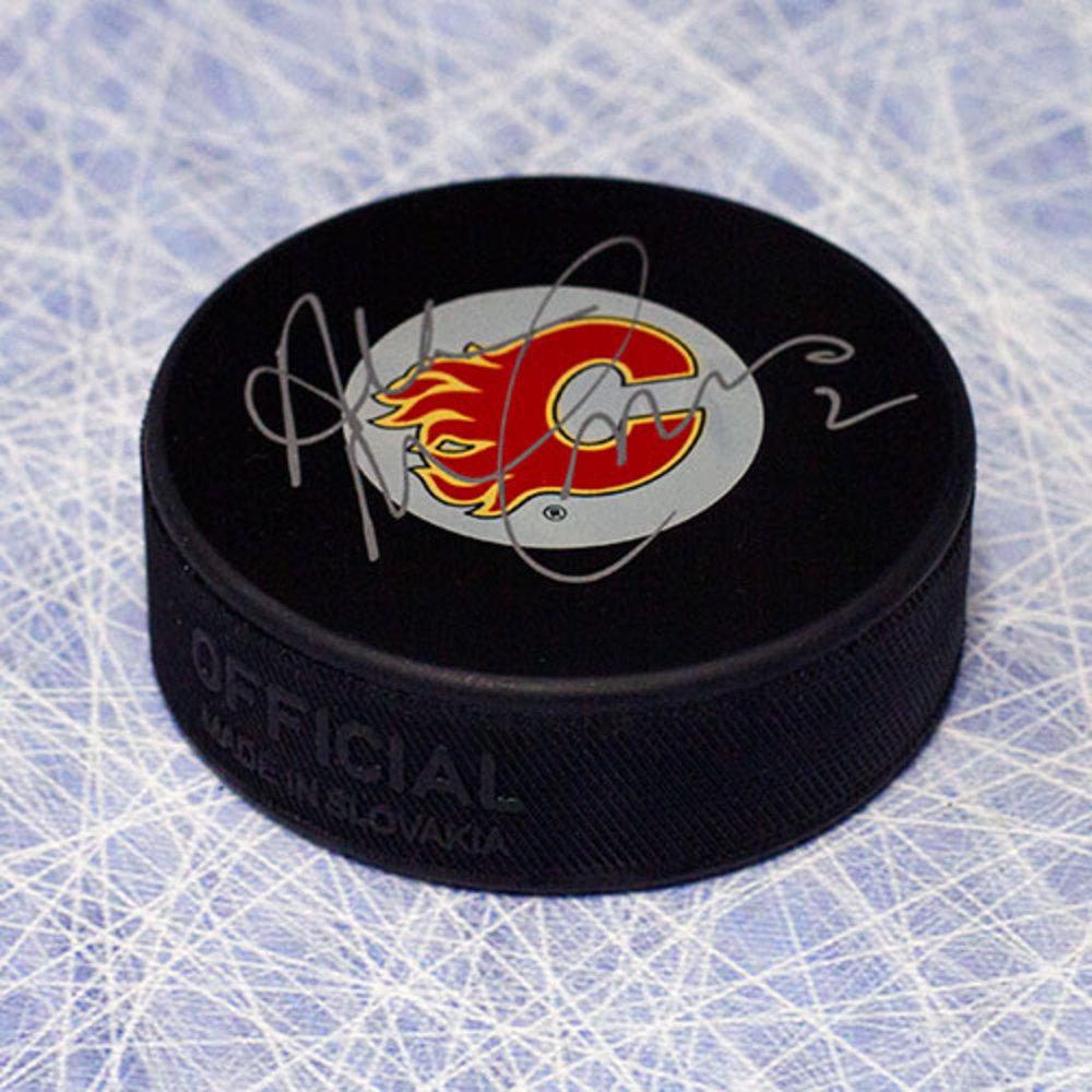 Al MacInnis Calgary Flames Autographed Hockey Puck