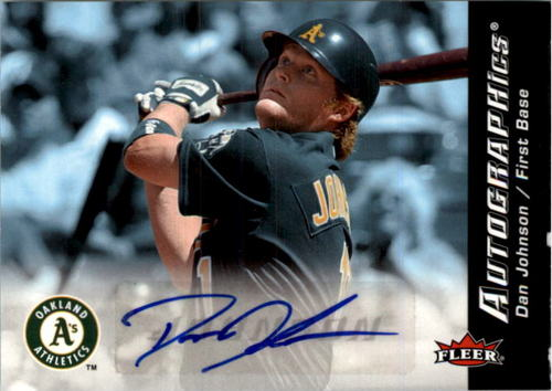 Photo of 2007 Fleer Autographics #DJ Dan Johnson