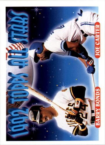 Photo of 1993 Topps #407 Barry Bonds/Joe Carter AS
