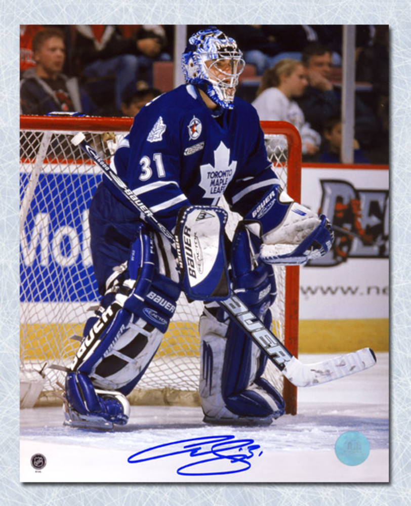 Curtis Joseph Toronto Maple Leafs Autographed CUJO Goalie Action 8x10 Photo