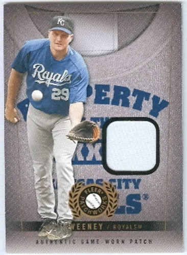 Photo of 2005 Fleer Patchworks Property of Patch #MS Mike Sweeney/77 UER