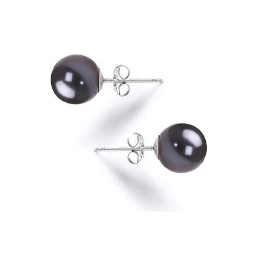 Ubid Aaa Black Pearl Earrings Stud 6mm Anese Freshwater