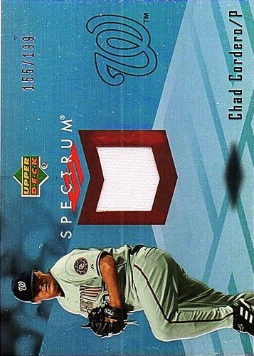 Photo of 2007 Upper Deck Spectrum Swatches #CC Chad Cordero Jersey /199