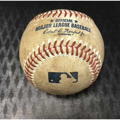 Photo of Game-Used Baseball - Lamb/Owings/Herrmann/Descalso vs. Samardzija