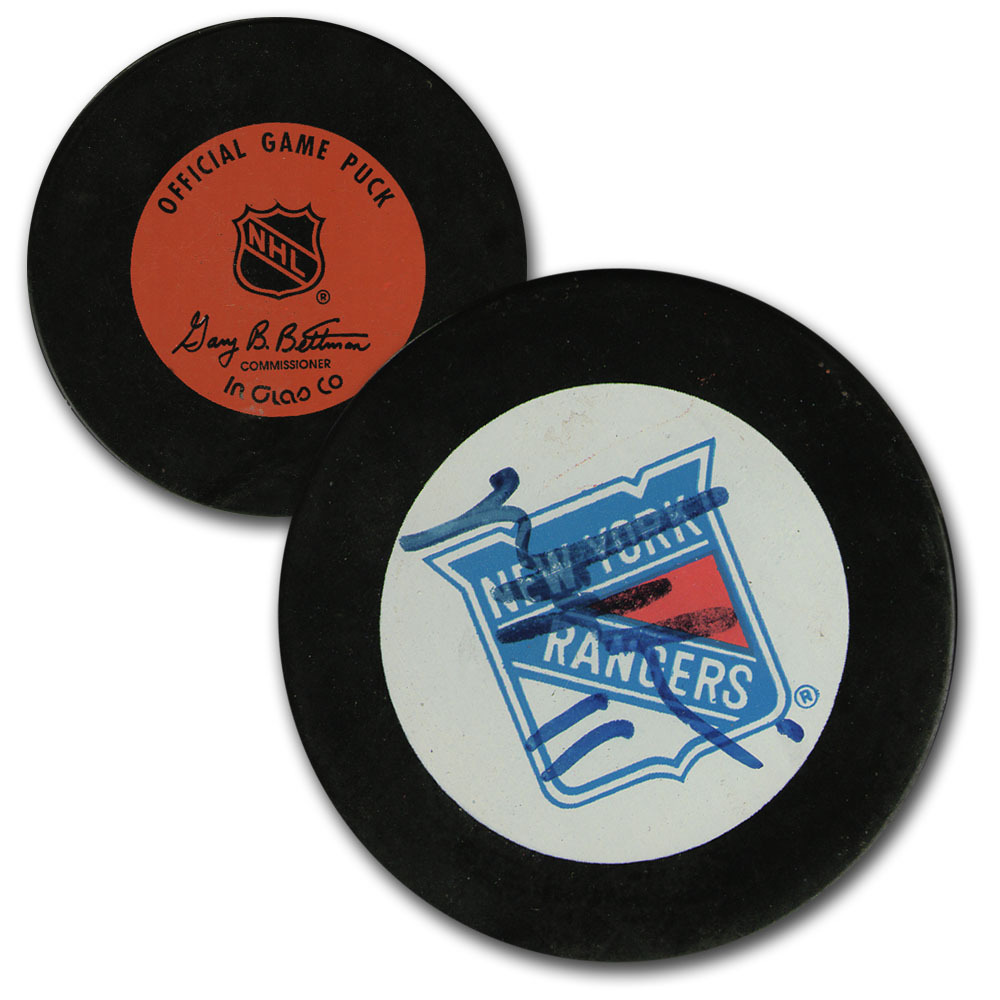Mark Messier Autographed New York Rangers Classic Official Game Puck