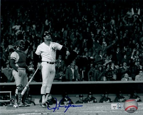 Photo of Chris Chambliss 1976 ALCS GW HR Autographed 8x10