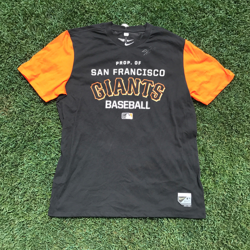 Photo of San Francisco Giants - Player Collected and Autographed T-Shirt - Ty Blach (size XL)