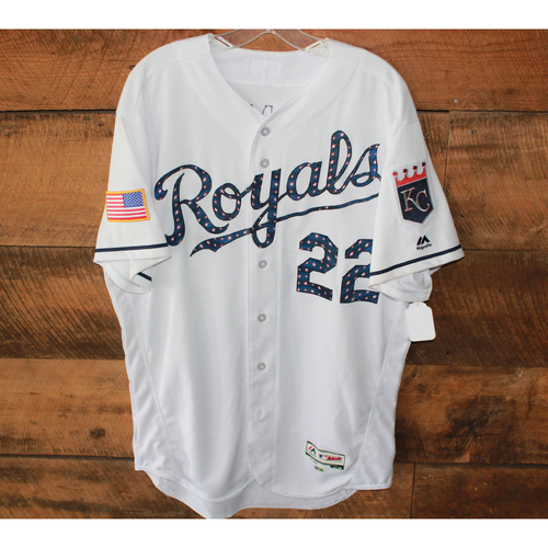 Photo of Game-Used Jersey: July 2, 2017 MIN at KC 4th of July, Don Wakamatsu (Size 48)