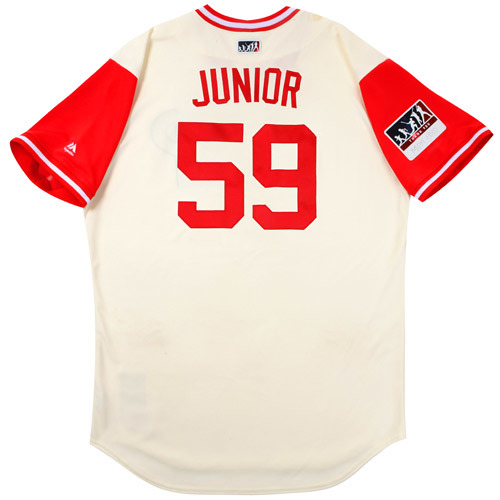 "Photo of Mark ""Junior"" Leiter Philadelphia Phillies Game-Used Players Weekend Jersey"