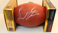 NFL - DURON CARTER SIGNED AUTHENTIC FOOTBALL