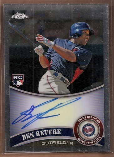 Photo of 2011 Topps Chrome Rookie Autographs #175 Ben Revere