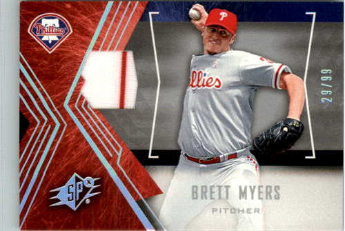 Photo of 2005 SPx Jersey Spectrum #36 Brett Myers