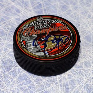 Chris Pronger Anaheim Ducks Autographed 2007 Stanley Cup Puck