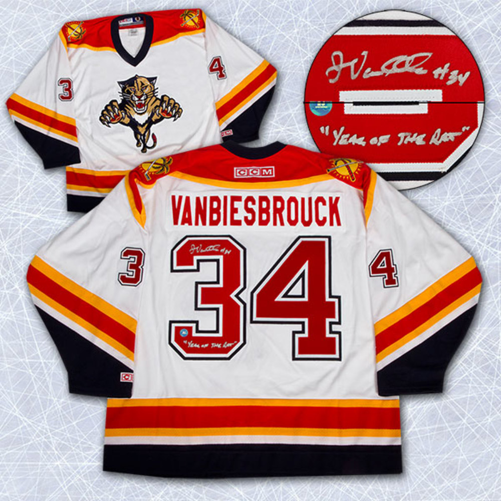 John Vanbiesbrouck Florida Panthers Autographed Retro CCM Year Of The Rat Jersey
