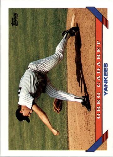 Photo of 1993 Topps #478 Greg Cadaret