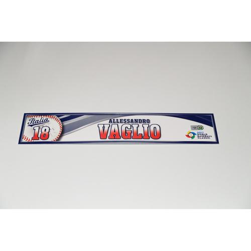 Photo of 2017 WBC Italy Game-Used Locker Tag: Alessandro Vaslio #18
