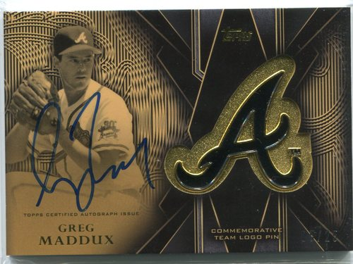 Photo of 2016 Topps Team Logo Pins Autographs Greg Maddux 05/25