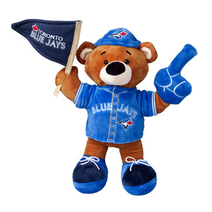 Toronto Blue Jays Plush Fan Bear 11.5 by Forever Collectibles