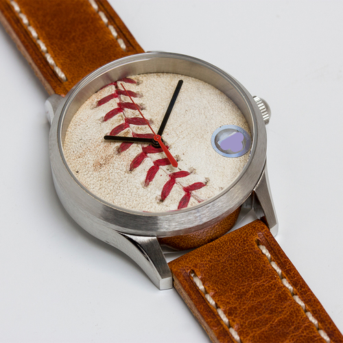 Photo of Tokens & Icons St. Louis Cardinals 2011 World Series Game-Used Baseball Watch - Game 6