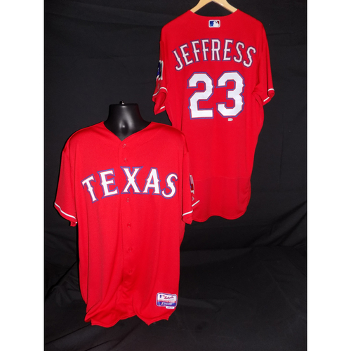 Photo of Jeremy Jeffress Game-Used 2017 Opening Day Jersey - Size 46