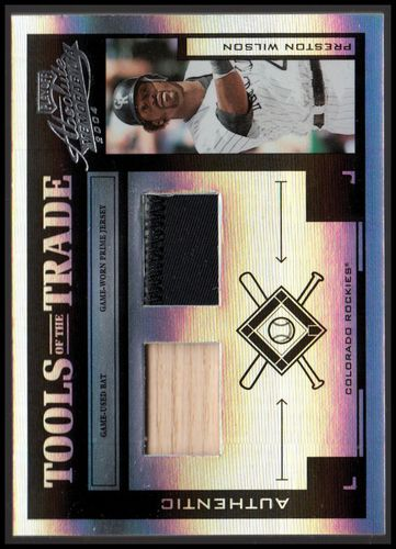Photo of 2004 Absolute Memorabilia Tools of the Trade Material Combo PS #115 P.Wilson Bat-Jsy/25