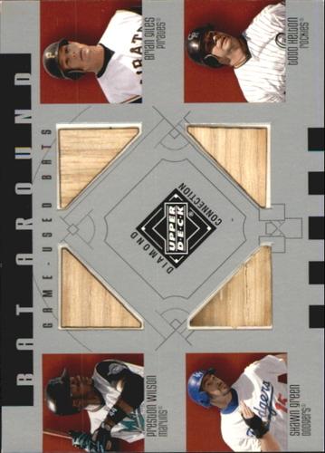 Photo of 2002 Upper Deck Diamond Connection Bat Around Quads #WGGH Preston Wilson/Brian Giles/Shawn Green/Tod